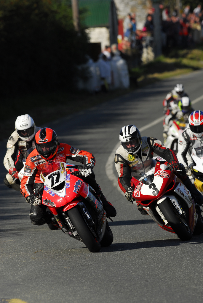 Ryan Farquhar ahead of Michael Dunlop Michael Pearson and Adrian Archibald Killalane