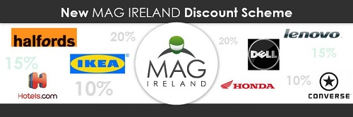 New extended discount scheme open to all MAG Ireland members from 1st September 2013.