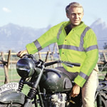 Steve McQueen in high viz