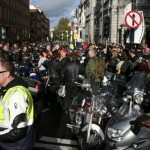 Bikers took to the streets