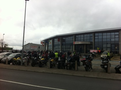 Bikers at RSA HQ