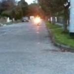approaching bike