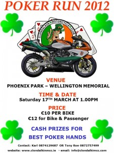 Clondalkin MCC Poker Run 2012 poster