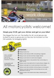 National Ride to Work Day poster image