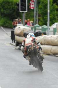 Dublin's Andy Farrell exits Athea Village before heading uphill to the start finish line