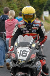Sitting behind Superbikes when there are lose chippings isn't good for the health of a bike! Athea 2011