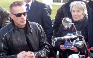 Linda O'Loideoin with Larry Mullen Jr.