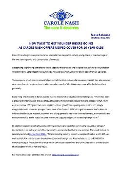 Carole Nash Press Release