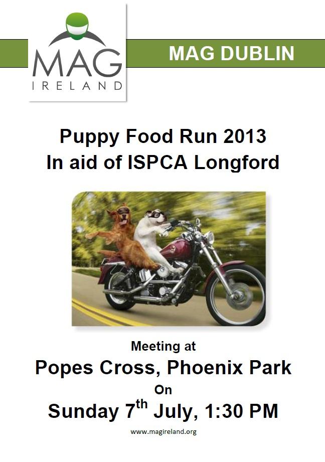 MAG Dublin Puppy Run Poster 2013