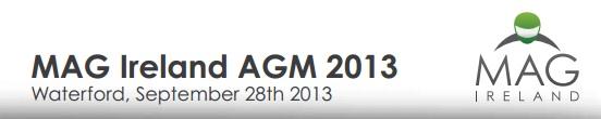 MAG Ireland AGM 2013