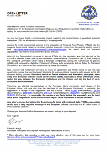 FEMA open letter to MEP's, November 2013
