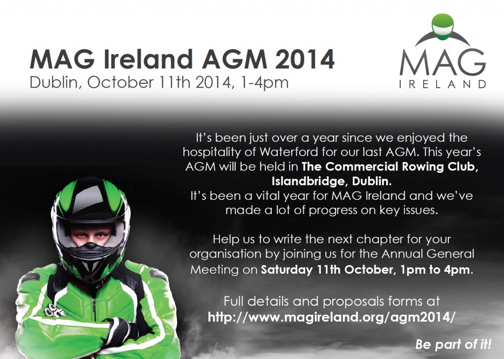 MAG Ireland AGM, Dublin, 11th October 2014