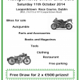 The Annual Veteran, Vintage and Classic Motorcycle Autojumble, Show and Sale will take place again at Leopardstown Race Course on Saturday 11th October 2014. MAG […]