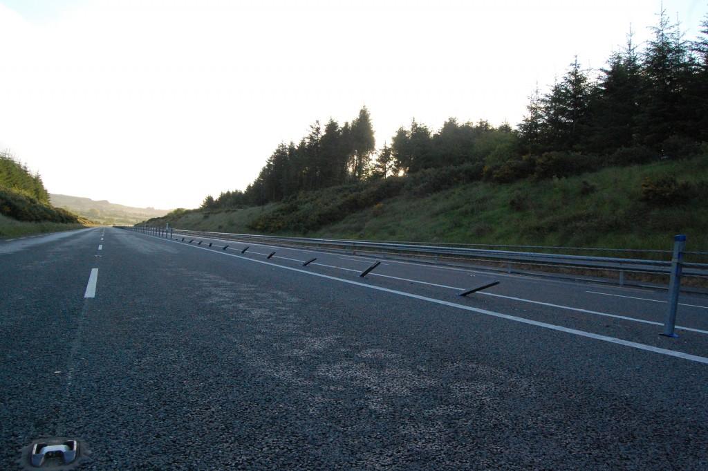 Castleisland Bypass Barrier Damage