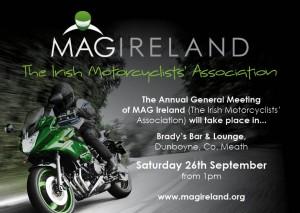 MAG Ireland (The Irish Motorcyclists' Association) AGM 2015