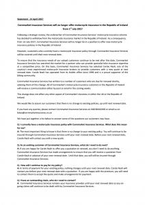 Cornmarket Statement 21st April 2017